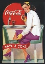"PLAQUE VINTAGE ""COCA COLA DRINK"" PUBLICITÉ, ADVERTISING, POSTER, ART RETRO"
