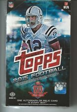 2015 Topps Football Factory Sealed Hobby Box 60th Year In Stock