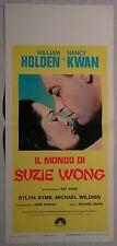 Locandina IL MONDO DI SUZIE WONG 1969 WILLIAM HOLDEN, NANCY KWAN