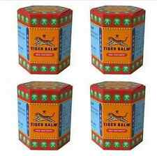 4 PCS TIGER BALM  RED CREAMS MADE FROM  HERBS  MENTHOL PAIN RELIEF 1 X 30 G