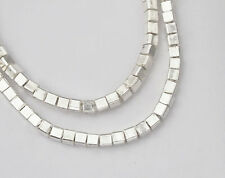 Karen Hill Tribe Silver 40 Cube Beads 2.5mm. 4 inches