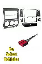 06-11 Mazda 5 Single/Double Din Car Stereo Radio Dash Trim Install Kit Combo