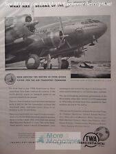 1943 RARE Esquire Advertisement AD for TWA Transcontinental Airline