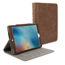 iPad Pro 9.7 Case - Book Case Vintage - Brown