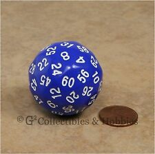 NEW Blue D60 Sixty Sided Dice D&D RPG Game Koplow Random Time Seconds Minutes