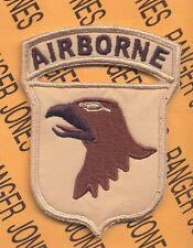 101st Airborne Division ABN AASLT Desert OIF OEF patch 2-B