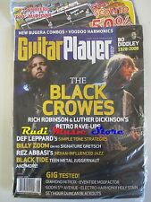 GUITAR PLAYER Magazine SEALED Ago 2008 Black Crowes Bo Diddley Billy Zoom NO cd