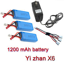 3x1200 mAh Battery+Charger+3in1Cable For JJRC H16 YiZhan Tarantula X6 Helicopter