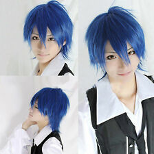 Kaito royal blue Short Anime Cosplay Party Hair Full Wig Costume