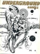 RARE EO DRUILLET + MOEBIUS FANZINE UNDERGROUND COMICS N° 0 ( SEUL PARU )