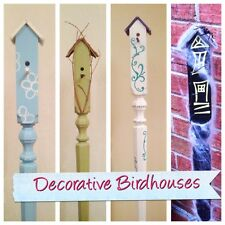 Handcrafted Decorative Solid Wood Birdhouses Garden Decor/Yard Art Holiday Gift!