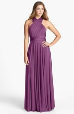Dessy Group Convertible Jersey Gown  (Size M)