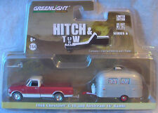 Greenlight * Hitch & Tow Series 6 * 1968 Chevy C-10 Red & Airstream