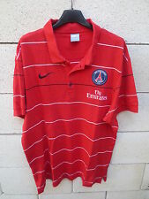 Polo PARIS SAINT-GERMAIN PSG Nike rouge coton shirt jersey L camiseta maglia