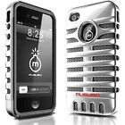 Microphone Style Hybrid Impact Case For iPhone 4 4S 5 5S + Free Screen Protector
