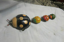 Vintage Wind Up Tin Ladybug Toy by T. P. S. Japan Works Well *RARE*
