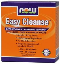 Now Foods Easy Cleanse Kit Simple 15-Day Detox, Cleansing Herbs Fiber & Greens