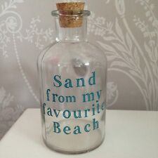 Decorative Glass Bottle - Sand From My Favourite Beach