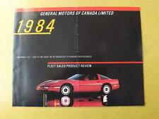 FLEET SALES PRODUCT REVIEW BROCHURE GM GENERAL MOTORS CANADA 1984 CORVETTE