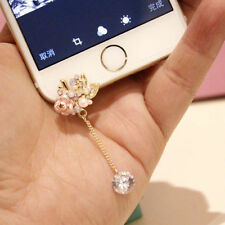 Cute Pink Rose 3.5mm Front Anti-Dust Ear Cap Plug For iPhone6s,6s Plus 5th,6,6+