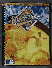 YANKEES BRAVES 1996 WORLD SERIES CHAMPIONSHIP PROGRAM BASEBALL MLB JETER