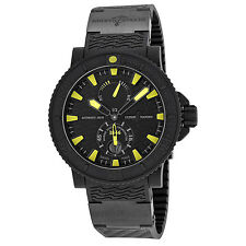 Ulysse Nardin Black Sea Black and Yellow Dial Black Rubber Mens Watch
