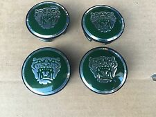 NEW JAGUAR SET OF 4 GREEN II JAG WHEEL HUB CAPS LOGO RIM 59MM COVER EMBLEM CAP