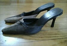 BEAUTIFUL COLIN STUART WOMAN'S SHOES MULES HEELS BROWN LEATHER SIZE 8  GREAT