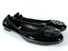 Tory Burch Classic Reva Black Patent Leather Ballet Flats Shoes Size 5M Women's