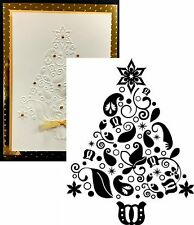 Christmas Tree Embossing Folder RUDOLPH  CO723327 5x7 Couture Creations Holidays