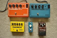 Lot of 5 Broken Pedals Vintage Boss & DOD, MXR Stereo Chorus, & Mooer Pitch Box