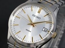 Seiko Classic Watch * SGEF03 2-Tone Gold Silver Steel Date Women 34MM COD PayPal