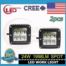 2X 24W CREE LED Work Light Spot Beam 10-30V DC Off-road Boat ATV Lamp 3inch