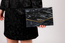 Vintage blue Lucite clutch bag - Envelope clutch evening bag