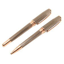 Jos Von Arx - Prestige Grey with Rose Gold Pen Gift Set in Presentation Gift Box