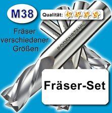 FräserSet 3+4+5+6+8+10+12+16mm Schaftfräser f. Metall Kunststoff hochleg. Z=4