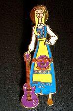 HRC hard rock cafe stockholm Midsummer 2000 Blonde Girl + Guitar le750