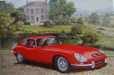 RED JAGUAR E-TYPE saluto card-series 1 1961-1968