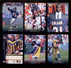 1995 UD Chicago Bears Set RASHAAN SALAAM MARK CARRIER STEVE WALSH CURTIS CONWAY