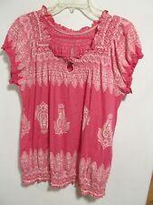 Izod women size XL Pink short sleeve Lot#8
