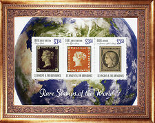 St Vincent & The Grenadines 2014 MNH Rare Stamps World 3v M/S GB Penny Black