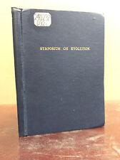 SYMPOSIUM ON EVOLUTION  - Duquesne University - 1959, Catholic, Darwin