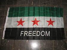 3x5 SYRIAN FREEDOM FLAG, 3'x5' Syria 3 Star Free Army Kurds 3' x 5' Flag Banner