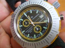 RARE & COLLECT 70'S CONTINENTAL CHRONOGRAPH DIVER'S 50M MANUAL WATCH      #5584