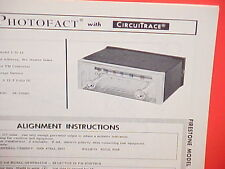 1964 1965 FIRESTONE AUTO CAR FM CONVERTER RADIO SERVICE SHOP MANUAL MODEL 3-D-15