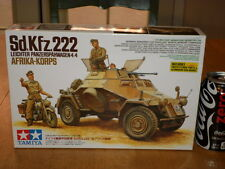 WW#2, GERMAN, AFRIKA KORP- Sd.Kfz.222 ARMORED CAR, Plastic Model Kit, Scale 1:35