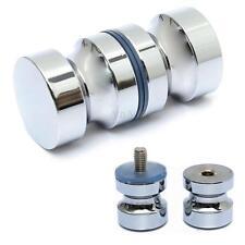 """Aluminum Metal 1.2"""" Dia Single Groove Glass Door Knob Shower Room Cabinet Handle"""
