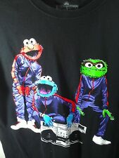 M black T Shirt THE MUPPETS sesame street GANG boom box ELMO grover COOKIE music