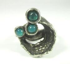 Silber Ring Achat ? Vintage 70er OLY RELO TEKA ART Modernist Boho M32 N4