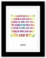 THE BEATLES - Magical Mystery Tour ❤ song lyrics typography poster art prints